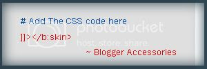 When you Add CSS code to your template , it must look like this