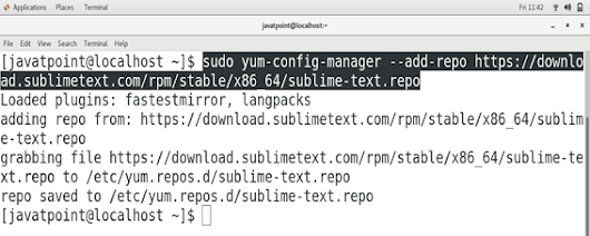 How to Install Sublime Text on CentOS - javatpoint