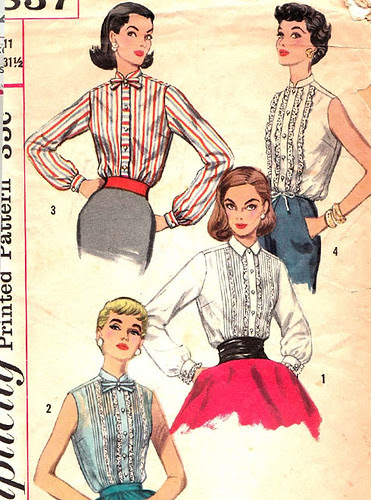Clothes 1950s Blouse Shirts Patterns
