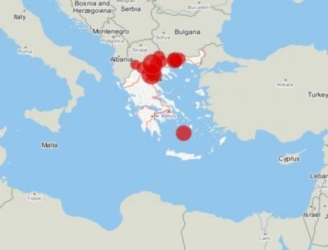 Βρες από ποιό μέρος της Ελλάδας κατάγεσαι! Γράψε το επώνυμό σου και δες το χάρτη!