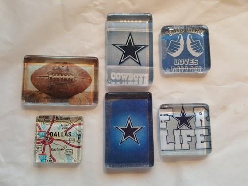 6 Dallas Cowboys Magnets NFL Football Magnets Cowboys Man Cave Tony Romo Jerry Jones Dallas Texas Home...