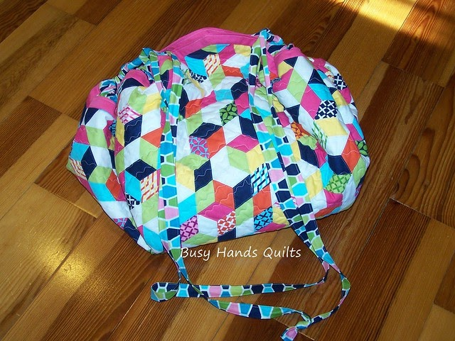 Busy Hands Quilts Quilted Drawstring Play Mat A Gift