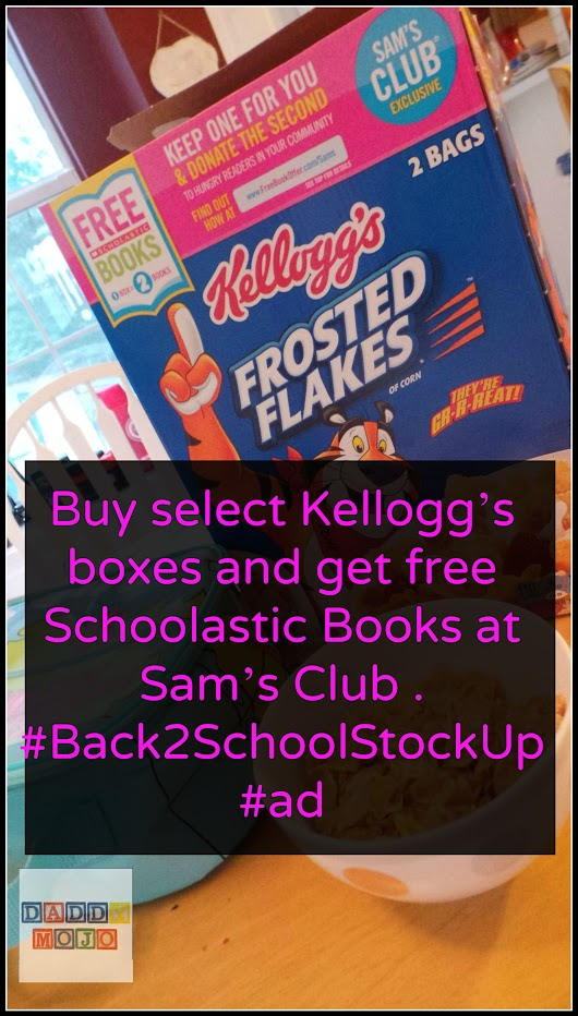 Buy select Kellogg's boxes and get free Schoolastic Books at Sam's Club . #Back2SchoolStockUp #ad