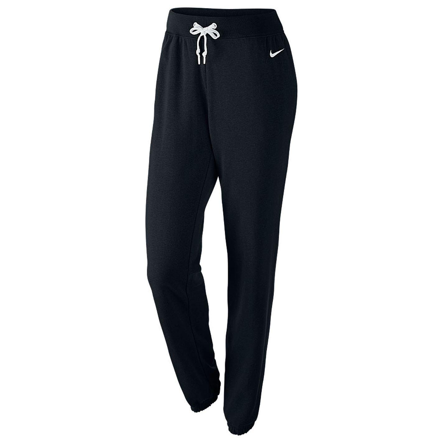 nike loose jersey sweat pants womens black track bottoms