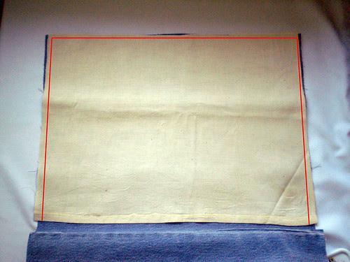 Sew canvas