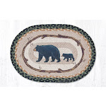 Capitol Importing 48-116MB 13 x 19 in. Mama & Baby Bear Oval Printed Placemat
