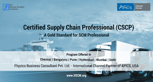 Certified Supply Chain Professional [CSCP] - APICS Certification,USA
