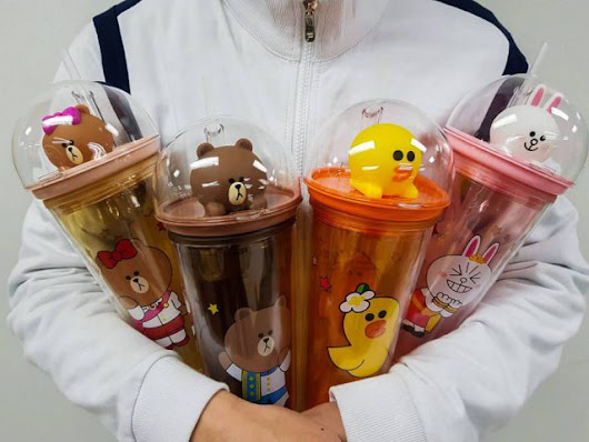 Thailand 7-11 launches CUTE LINE Series Water Bottle! | Malaysian Foodie