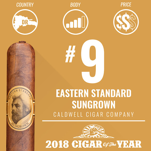 No. 9 Cigar of the Year 2018 - Eastern Standard Sungrown - Cigar Dojo