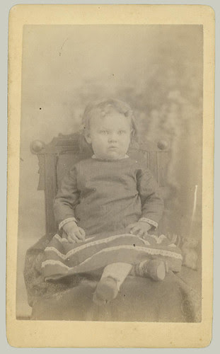 CDV child in chair