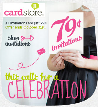 All Invitations $0.79 at Cardstore!