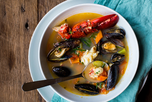 Lobster and Mussel Bouillabaisse