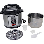 Precise Heat KTELPCS Electric Pressure Cooker Stainless Steel inner Pot - 6.3 qt