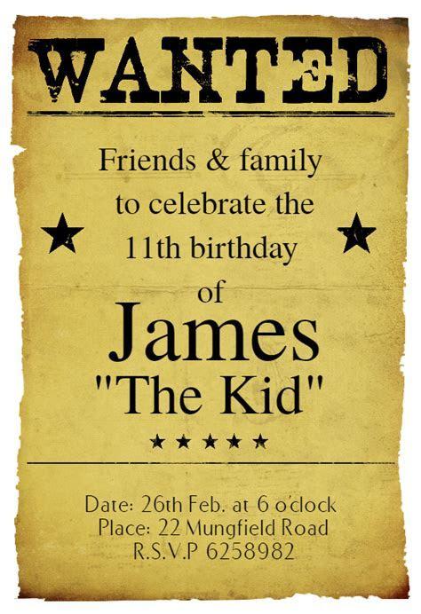 Western Birthday Party   Birthday Invitation Template