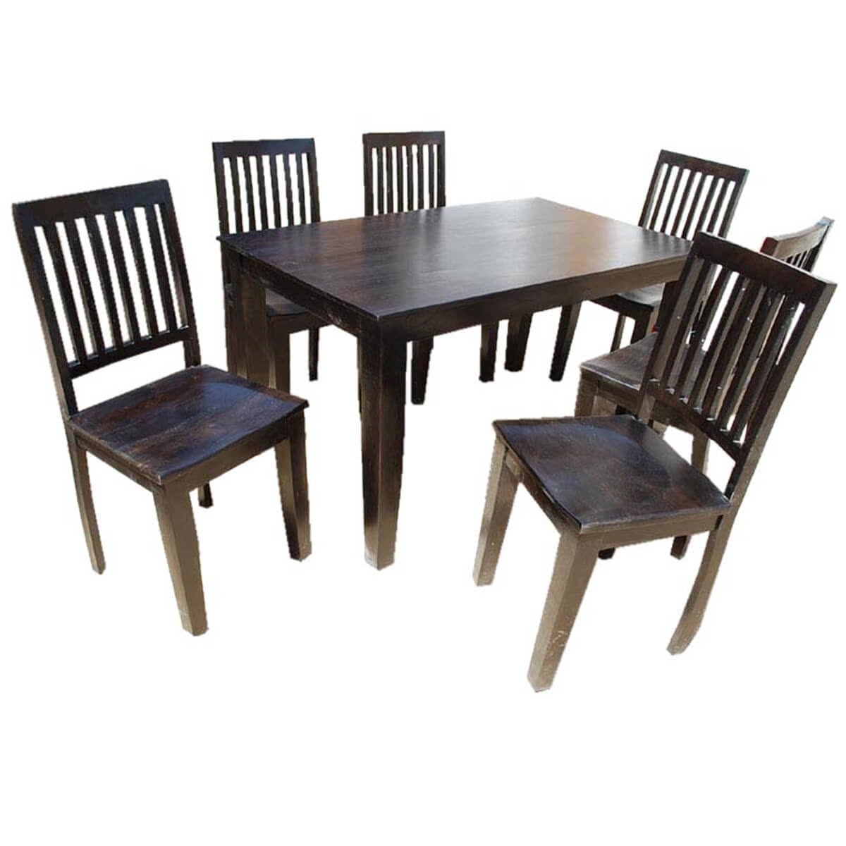 Solid Wood Lincoln 7PC Dining Room Table \u0026 Chair Set