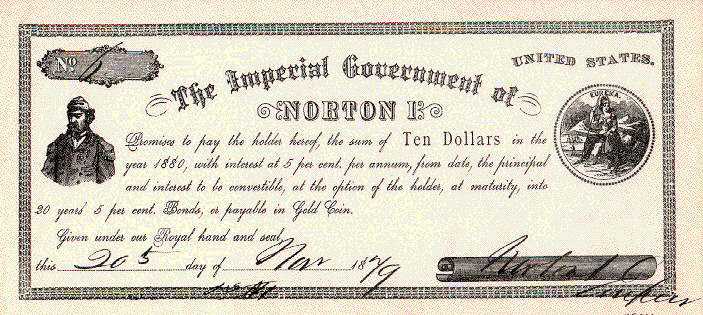 Imperial Dollar of Norton I
