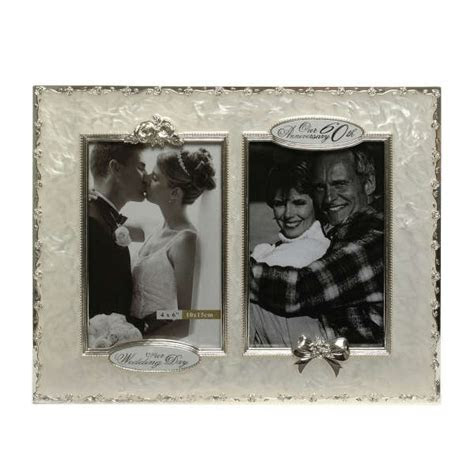 60th Wedding Anniversary Then and Now Picture Frame