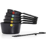 Oxo 6-piece Plastic Measuring Cups - Snaps - Black - 11110901