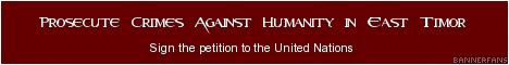 Advocating for an international criminal tribunal for crimes against humanity in Timor-Leste.
