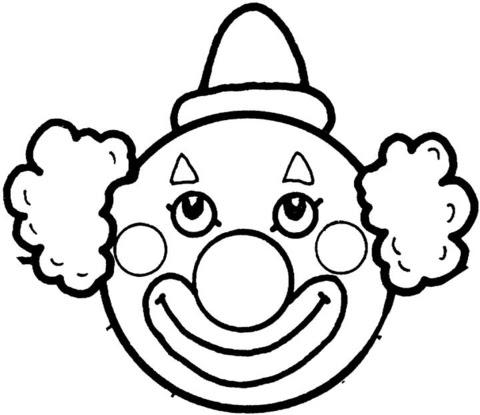 Coloriage Visage De Clown Coloriages à Imprimer Gratuits