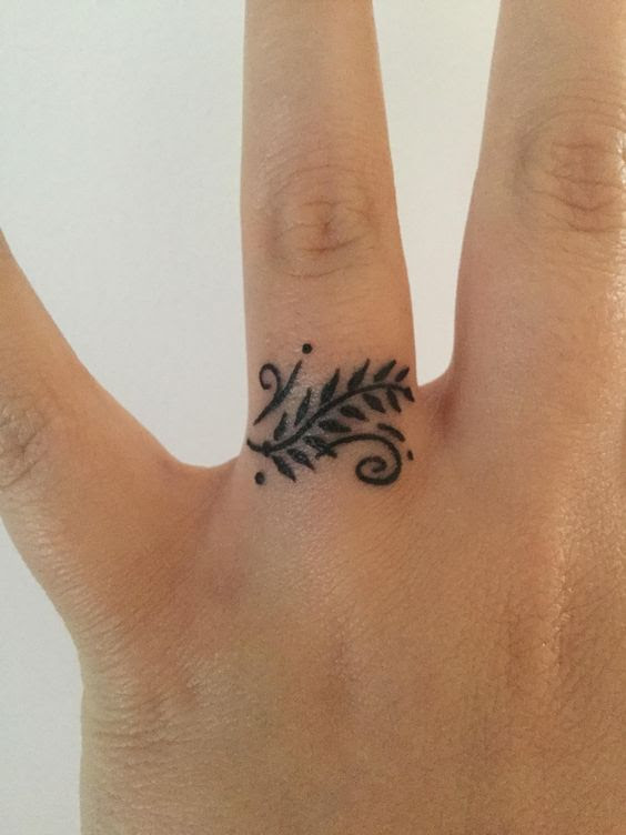 Leaves On A Branch Finger Tattoo Tattoo Pictures