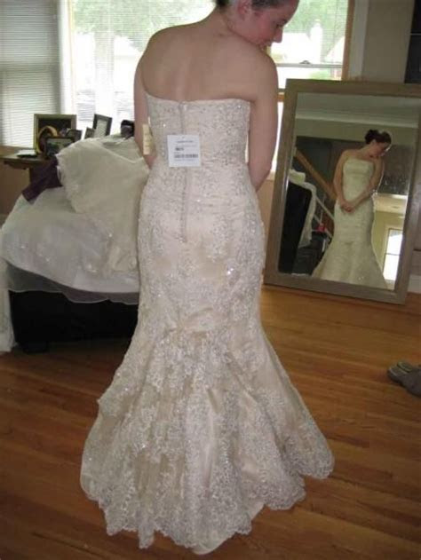 5 point French bustle   Bridal gown   Wedding gown bustle