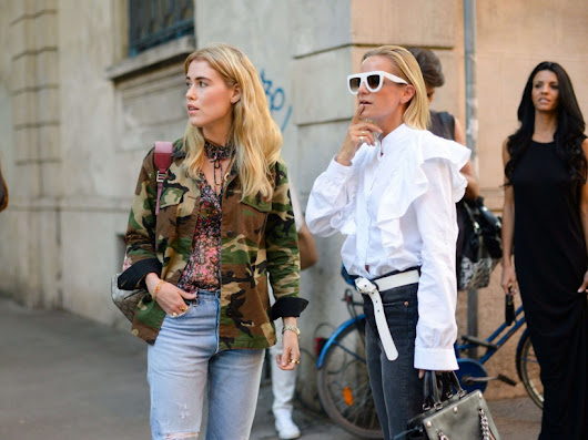 Les plus beaux street looks de la fashion week de Milan - O - L'Obs