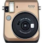 Fujifilm Instax Mini 70 Instant Camera with 60mm Lens - Stardust Gold