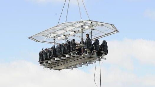 ASOMBROSO. La plataforma viene de Bélgica y tiene 9 metros de largo y 5 de ancho.