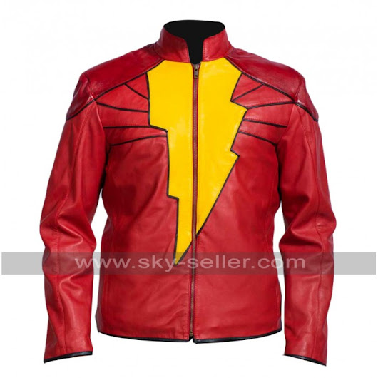 Captain Marvel Shazam Black Adam Leather Jacket