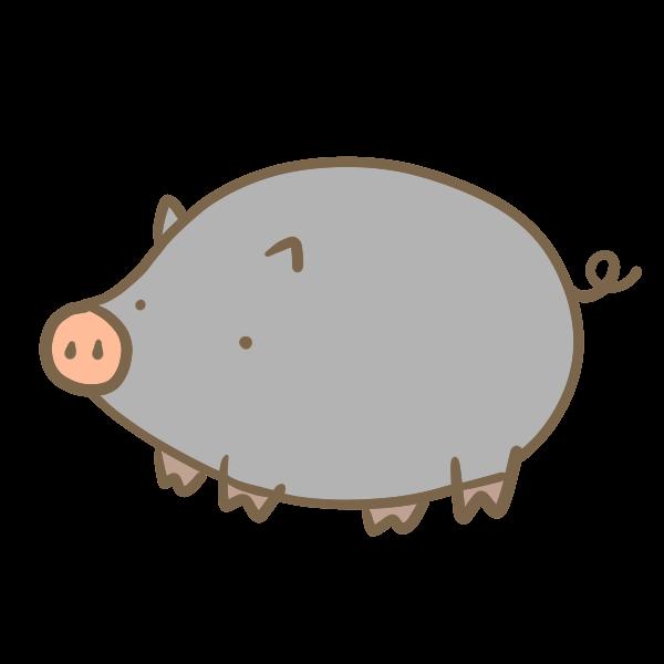 黒豚のイラスト かわいいフリー素材が無料のイラストレイン