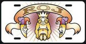 ROJ, Royal Order of Jesters, Shriners, Vanity Plate, Freemasonry, Freemasons, Freemason, Masonic, Symbols