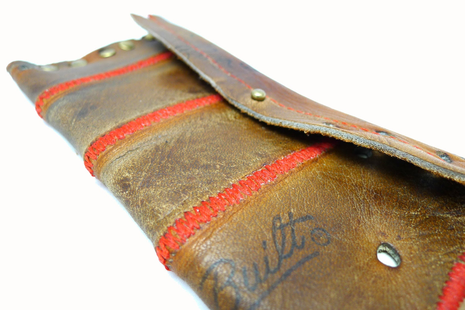 SALE! Vintage Baseball Glove Leather Wallet