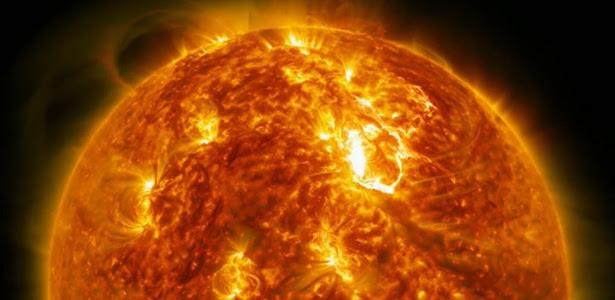 Imagens do Sol em alta definição feitas pela Nasa