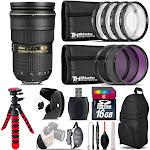 Nikon AF-S 24-70mm f/2.8G ED + Macro Filter Kit & More - 16GB Accessory Kit
