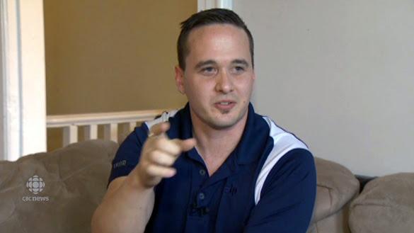 UFO witness John Edwards speaking to CBC News. (Credit: CBC News)
