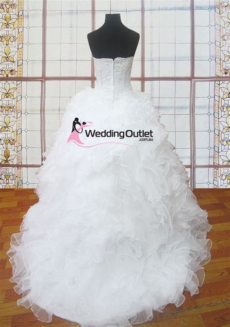 Judith ruffle lace wedding gowns   Weddingfactoryoutlet.co