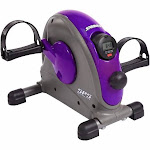 Stamina Mini Exercise Bike with Smooth Pedal System - Purple