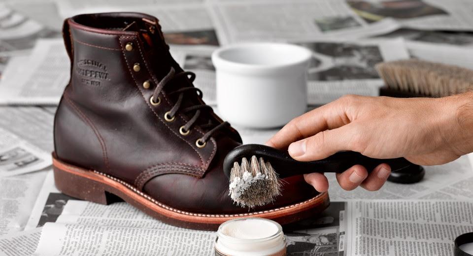 polishing foot wear