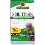 Nature's Answer Milk Thistle Seed Extract - 60 Vegetarian Capsules -PACK 2