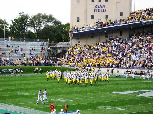 The team takes the field