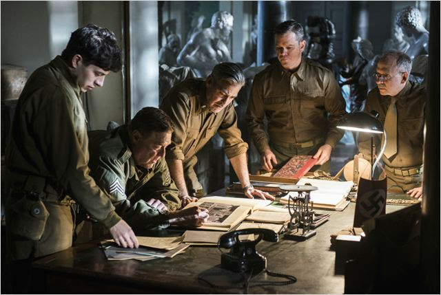 Monuments Men : Photo Bob Balaban, George Clooney, John Goodman, Matt Damon