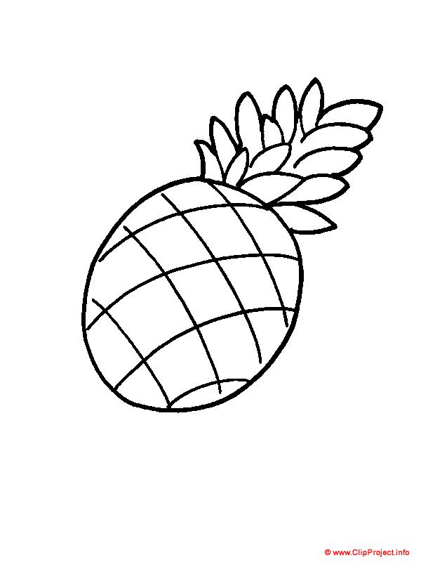 mewarna09 kleurplaat van een ananas