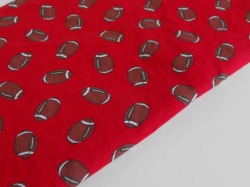 Maroon Garnet Football Fabric