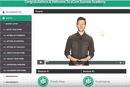 eCom Success Academy Review 2018: Explode Your Shopify Store! - Elite Affiliate Hacks