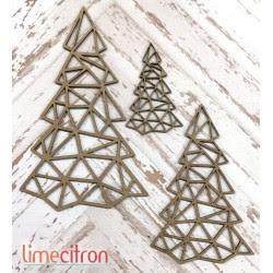 3 sapins géométrique