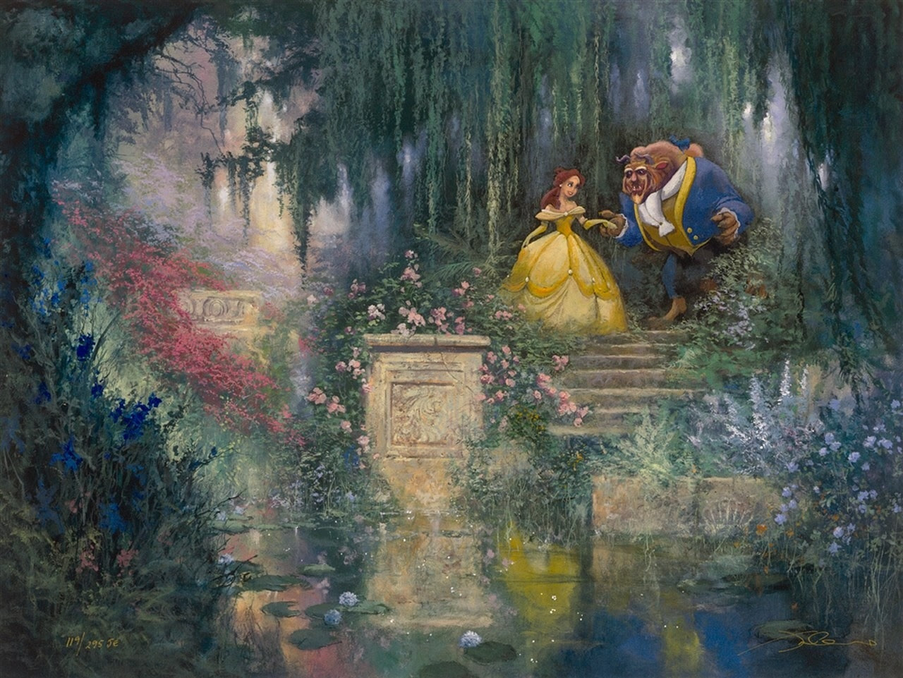 Cartoons Disney Company Artwork Beauty And The Beast 1280x961