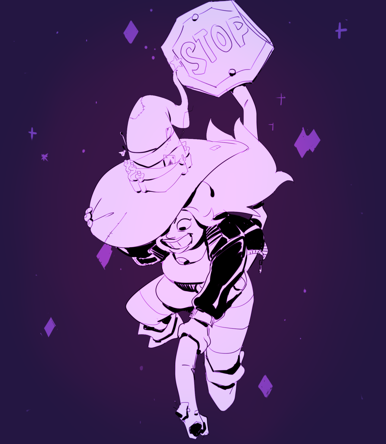 """""""Inktober #25 - Steven Universe #2 halloween edition """" i just wanted to redraw my scrappy amethyst witch from last year"""