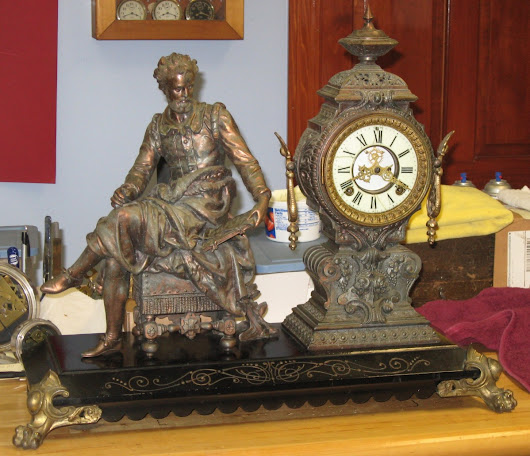 "Ansonia ""Tasso"" Figure Clock, ca. 1894"