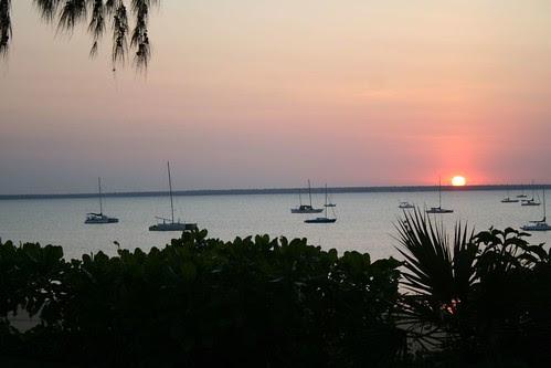 Sunset Darwin Sailing Club Fannie Bay